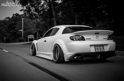 #Mazda RX8 #Slammed #Bagged #Modified #Camber #White